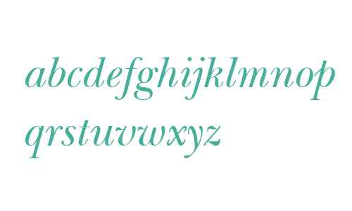 New Baskerville ITC W04 Italic
