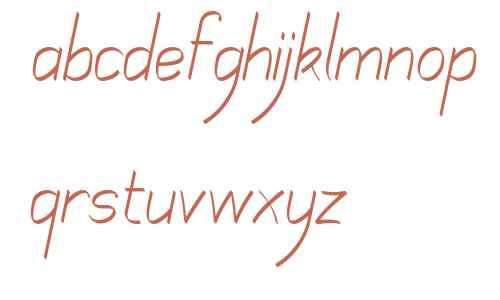 Mechanihan Ribbon Italic