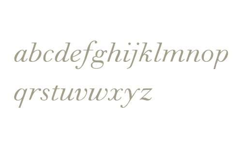 Walbaum MT W04 Italic