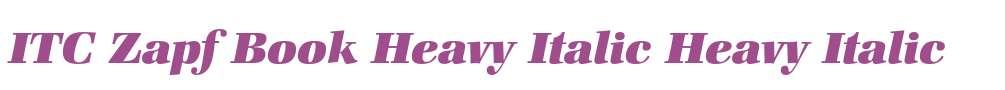 ITC Zapf Book Heavy Italic