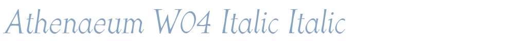 Athenaeum W04 Italic