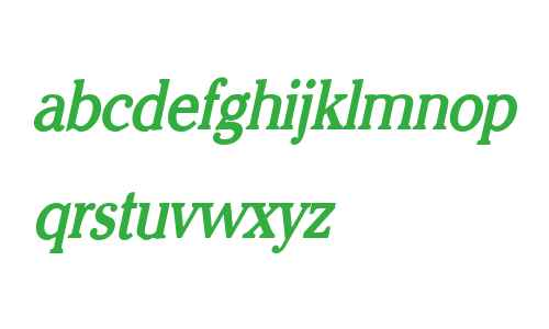 Chelsey Condensed Bold Italic