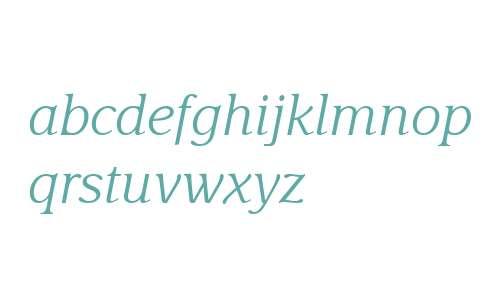 Delima MT W04 Light Italic