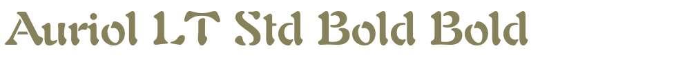Auriol LT Std Bold