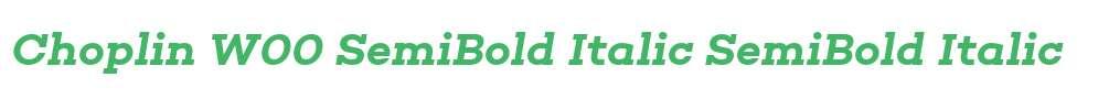 Choplin W00 SemiBold Italic