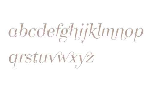 Take Five W01 Italic Swashes