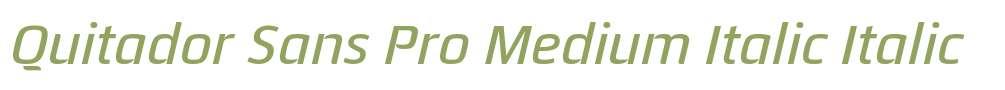Quitador Sans Pro Medium Italic