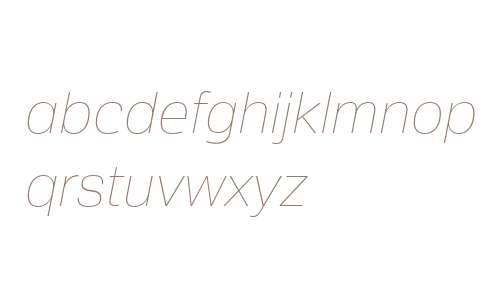 Crique Grotesk Ultra Light Italic