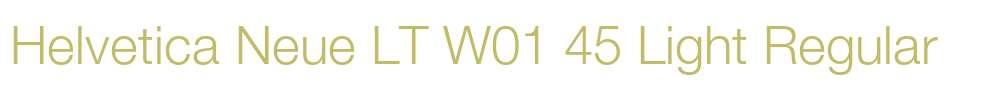 Helvetica Neue LT W01 45 Light