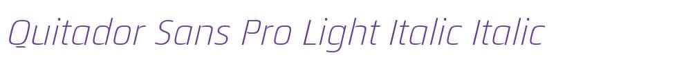 Quitador Sans Pro Light Italic