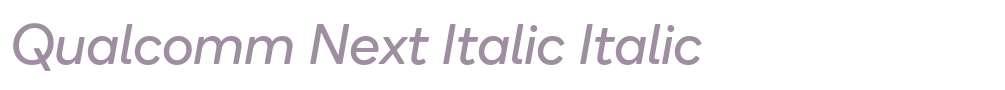 Qualcomm Next Italic