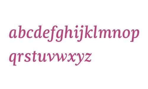 Dorica W01 Medium Italic