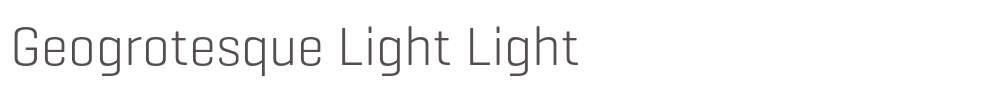 Geogrotesque Light