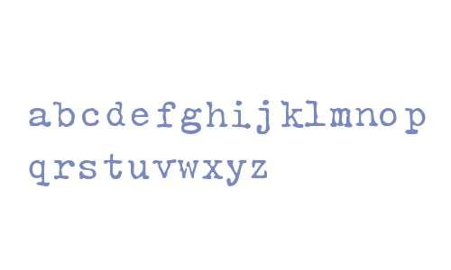 Typewriter Rustic RNH Regular