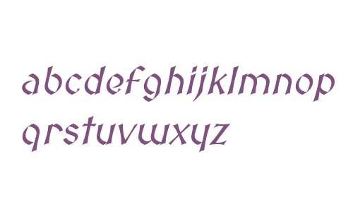 Medieval Sharp Oblique
