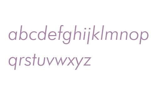 FuturaBT W02 Light Italic