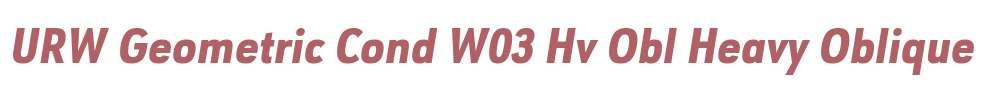 URW Geometric Cond W03 Hv Obl