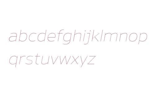 Nauman W00 Thin Italic
