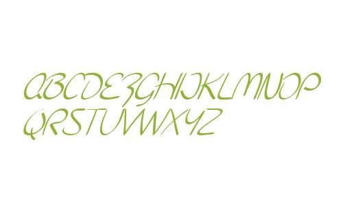 SF Burlington Script SC Italic V2 V2