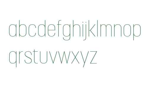 Korolev Condensed W04 Thin