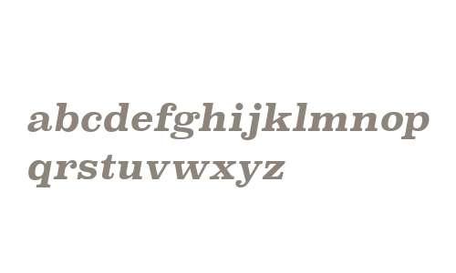 Superclarendon Rg Bold Italic V1
