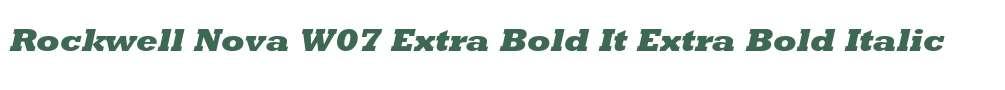 Rockwell Nova W07 Extra Bold It