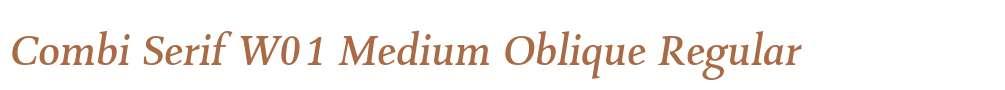 Combi Serif W01 Medium Oblique