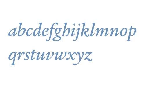 ITC Legacy Serif Std Medium Italic