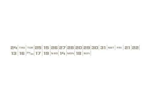 CalendarFont W95 Two