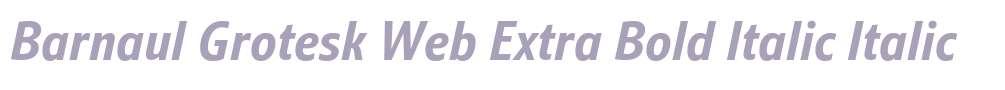 Barnaul Grotesk Web Extra Bold Italic