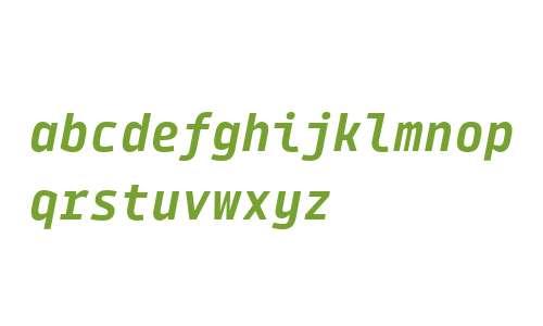 Tabular Bold Italic