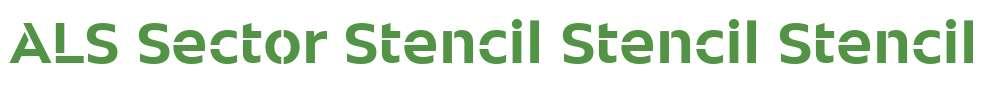 ALS Sector Stencil Stencil