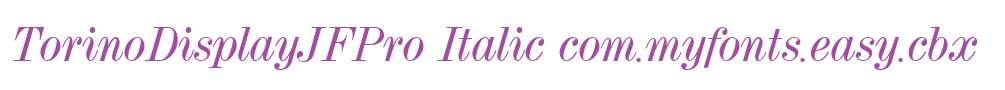 TorinoDisplayJFPro Italic