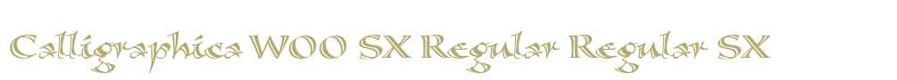 Calligraphica W00 SX Regular