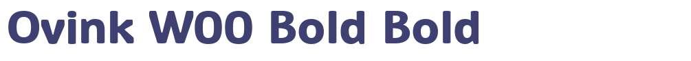 Ovink W00 Bold