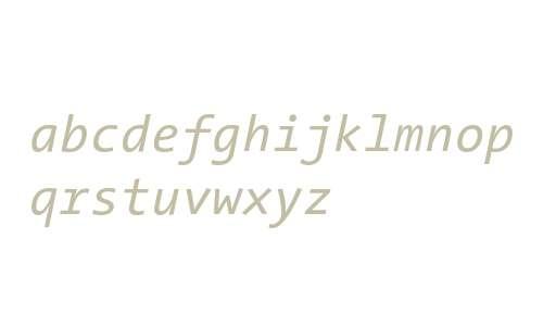 TheSansMono Italic