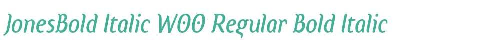JonesBold Italic W00 Regular