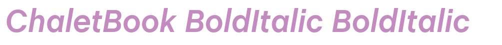 ChaletBook BoldItalic