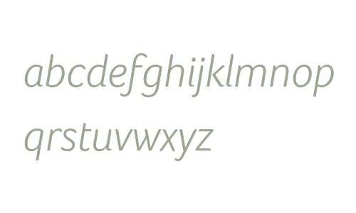Foco W07 Light Italic