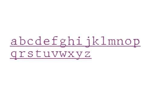 JMH Typewriter mono Fine Under Regular