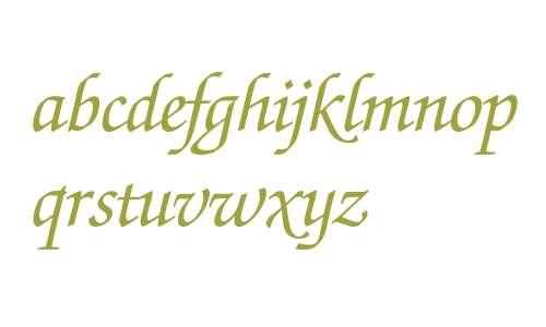 Zapf Chancery* Medium Italic