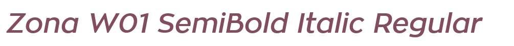 Zona W01 SemiBold Italic