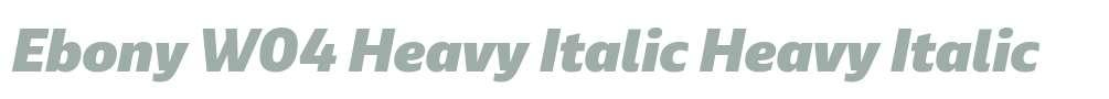 Ebony W04 Heavy Italic