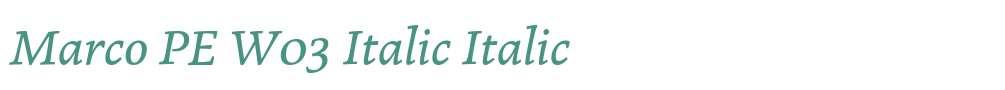 Marco PE W03 Italic