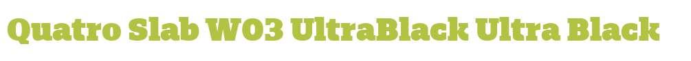 Quatro Slab W03 UltraBlack