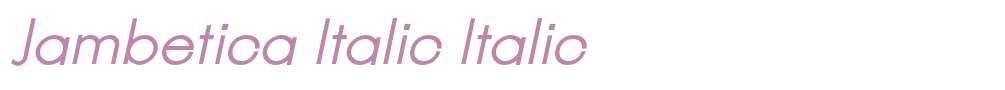 Jambetica Italic