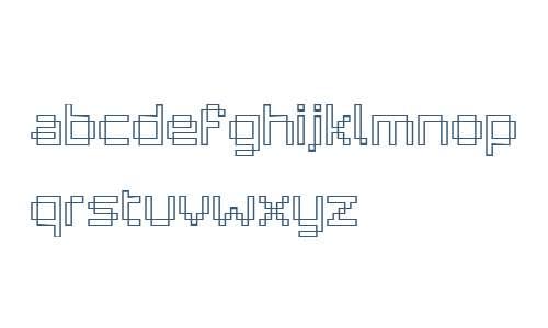 Pixelar Outline W01 Regular
