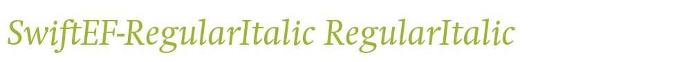 SwiftEF-RegularItalic