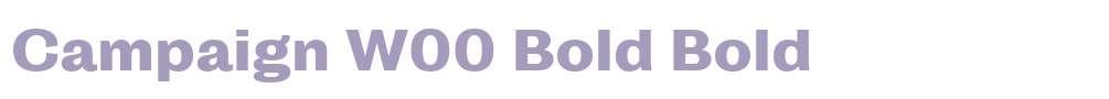 Campaign W00 Bold