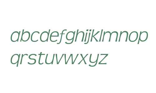 TeenLight-Italic